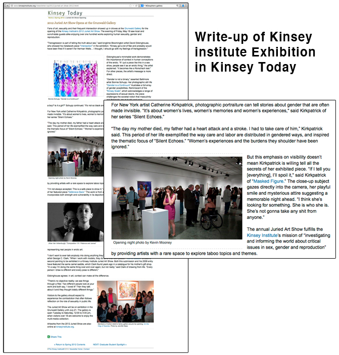 Kinsey Exhibition Write-up